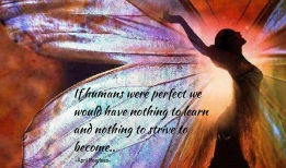 If humans were perfect, we would have nothing to learn and nothing to strive to become.. We are all Perfectly flawed.. ~April Peerless