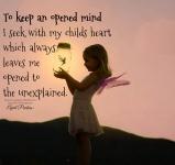 My child heart, my teacher